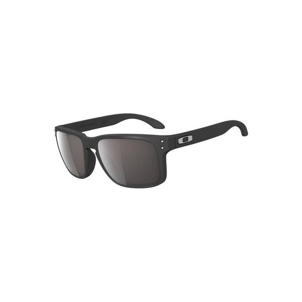 Oakley Mens Holbrook Rectangular Sunglasses OO9102-01, Matte Black/Warm Grey Lens