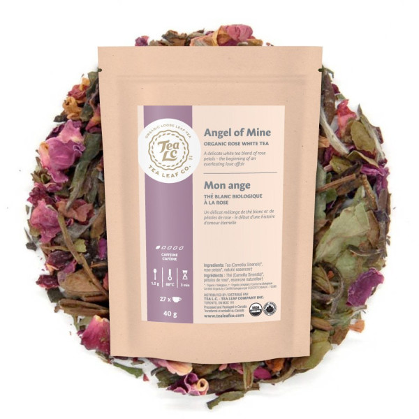 ANGEL OF MINE | Organic Rose Loose Leaf White Tea