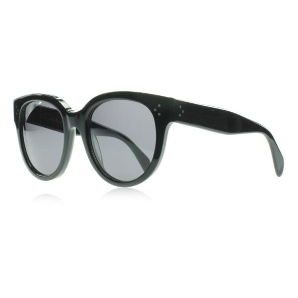 Celine Black Audrey Round Sunglasses