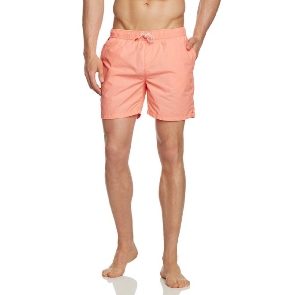 Scotch & Soda Men's Short Solid Swim Trunk, Coral, X-Large