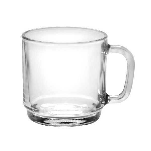 Duralex - Lys Stackable Clear Mug 250 ml (8 3/4 oz) Set Of 6