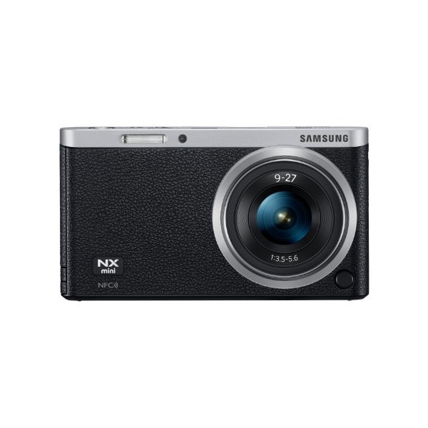 "Samsung NX Mini 20.5MP CMOS Smart WiFi & NFC Mirrorless Digital Camera with 9-27mm Lens and 3"" Flip Up LCD Touch Screen (Black)"