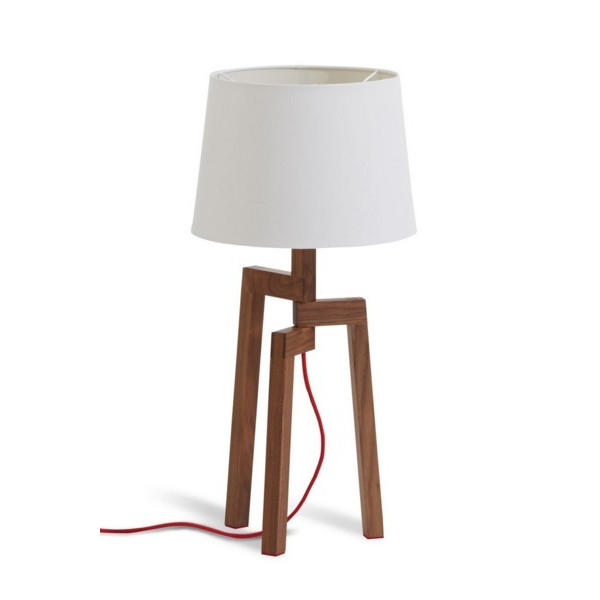 Blu Dot Stilt Table Lamp, Walnut