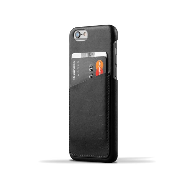 MUJJO Leather Wallet Case for iPhone 6, Black