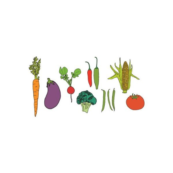 Tattly Temporary Tattoos Vegetable Set-Colorful Garden Veggies
