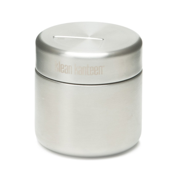 Klean Kanteen Food Canister with Stainless Lid, Brushed Stainless, 8-Ounce