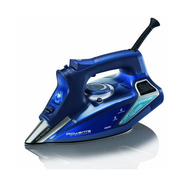 Rowenta DW9280 Steam Focus Steam Iron with 400-Hole Stainless Steel Soleplate, 1800-Watt, Blue