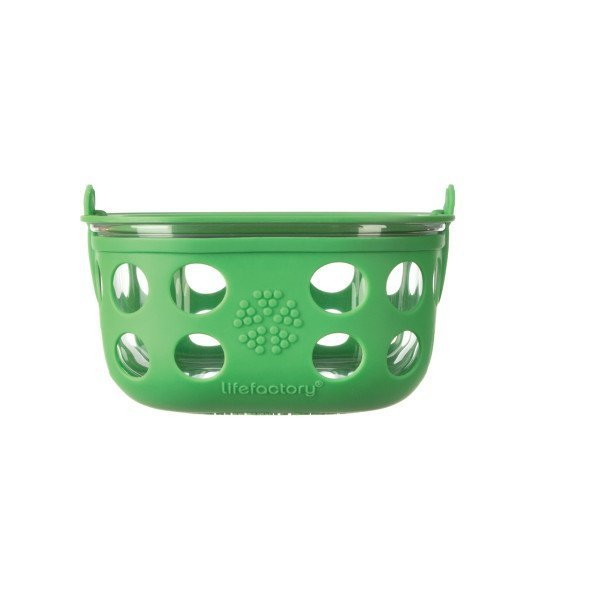 Lifefactory Glass Food Storage, 4 Cup, Grass Green