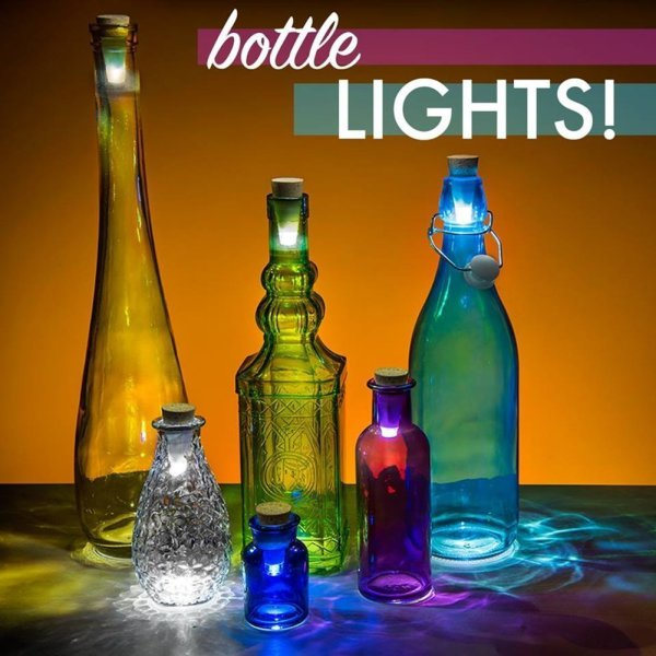 Vekzon® 3 Pack Cork Shaped Rechargeable USB LED Bottle Light for Party