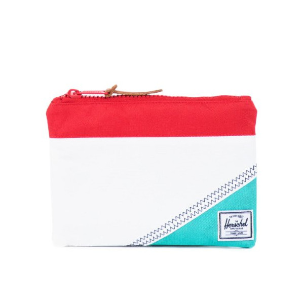 Herschel Supply Co.: Field Pouch - White / Racing Red / Mark Teal (Studio)