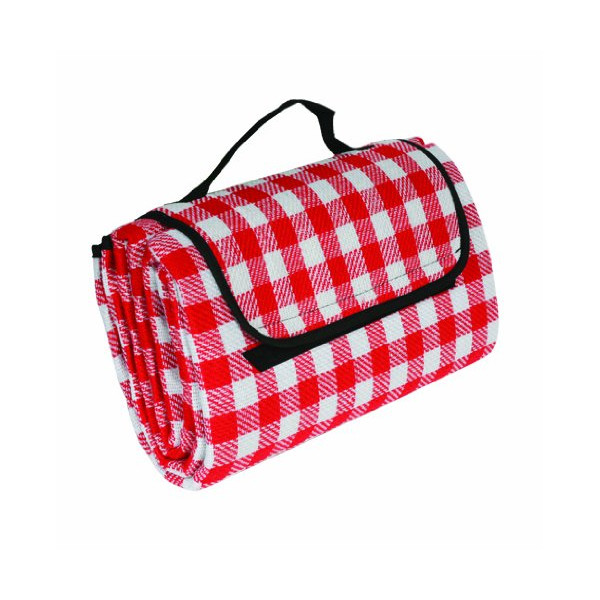 "Camco 42801 Picnic Blanket (51"" x 59"", Red/White)"