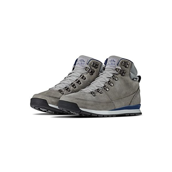 The North Face Men's Back-2-Berkeley Redux Leather - Griffin Grey & Shady Blue - 10.5