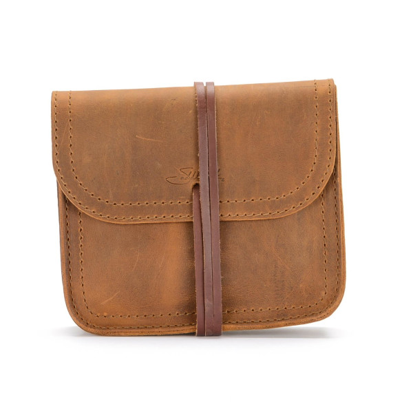 Saddleback Leather Cable Bag, Tobacco