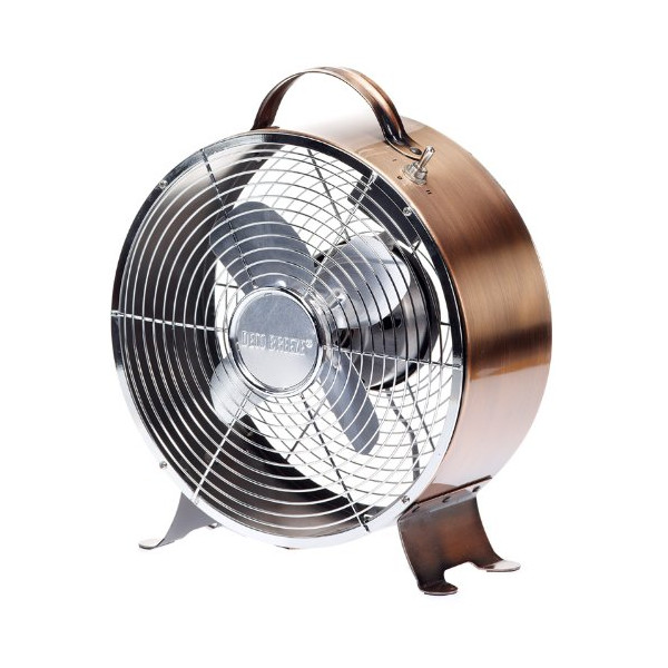 Deco Breeze Retro Metal Fan, Copper, 9-Inch