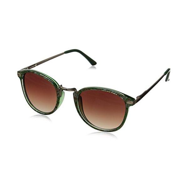 A.J. Morgan Castro Round Sunglasses, Green Floral, 48 mm
