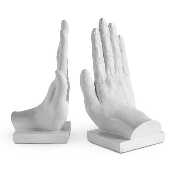 Praying Hands Bookends Statue