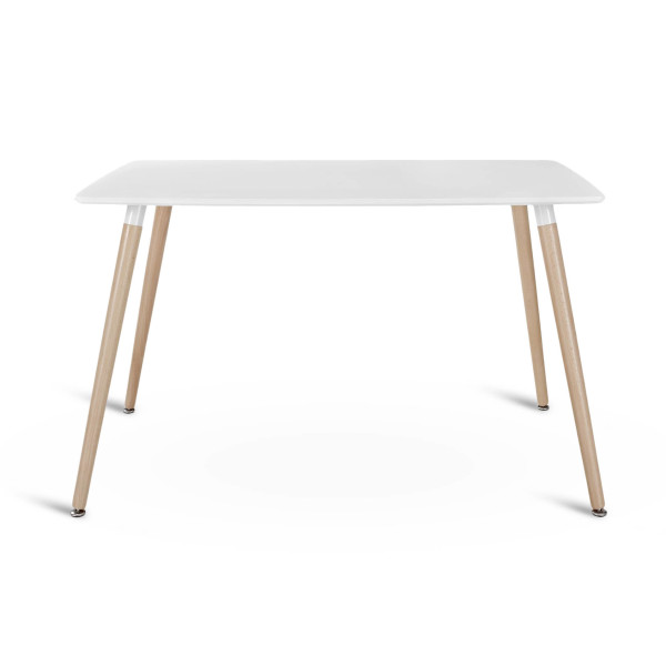 LexMod Field Dining Table, White