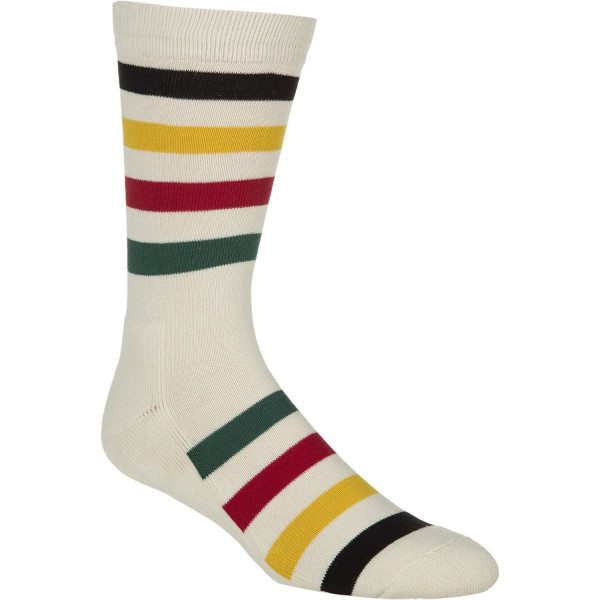 Pendleton Men's National Park Crew Sock, Glacier Stripe, Medium