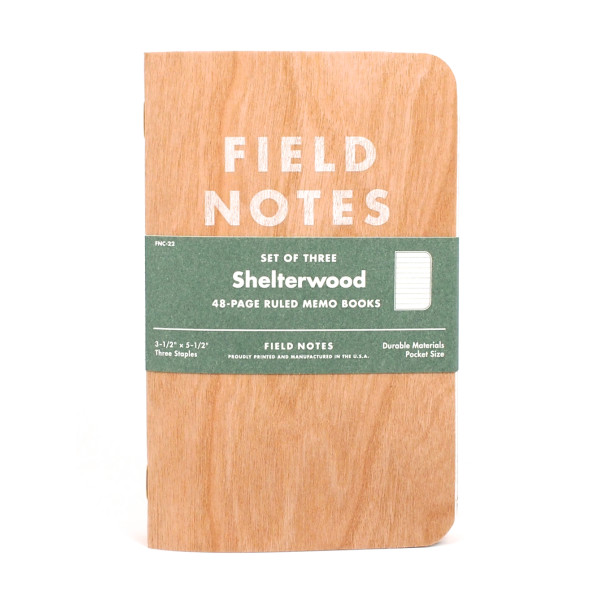 Field Notes Shelterwood, 3 Pack