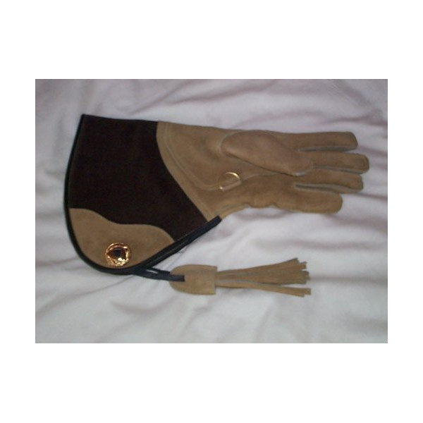 Falconry Suede Leather Glove Double skinned large
