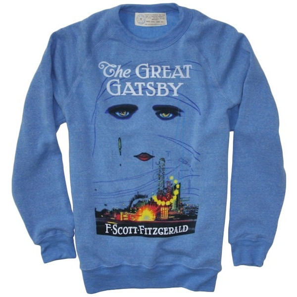Great Gatsby Blue Crew Neck Sweater