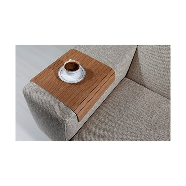 Sofa Tray Table ( Bahama Teak ), Sofa Arm Tray, Armrest Tray, Sofa