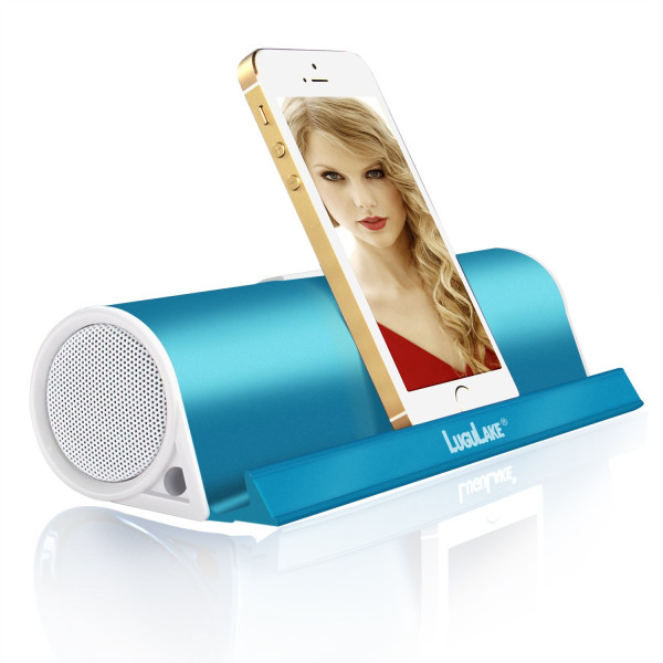 LuguLake Portable Bluetooth Speaker, with Stand function Wireless Stereo Speaker Built-in 3.5mm Aux Port (Blue)