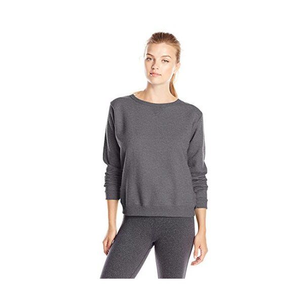 Hanes Women's V-Notch Pullover Fleece Sweatshirt, Slate Heather, X-Large