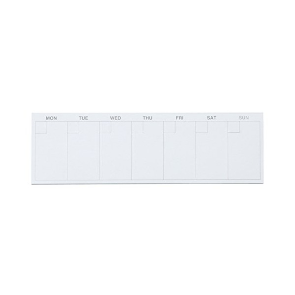 MoMa MUJI Free schedule sticky notes 1 week, 35 sheets