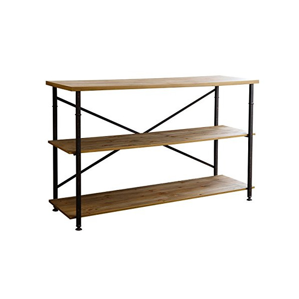 Abbyson Living Haywood Industrial Tv Stand, Natural