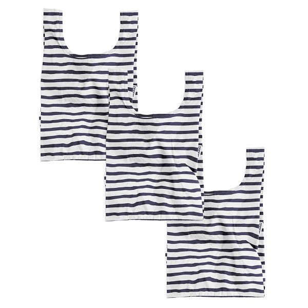 BAGGU Small Reusable Shopping Bag 3 Pack - Sailor Stripe