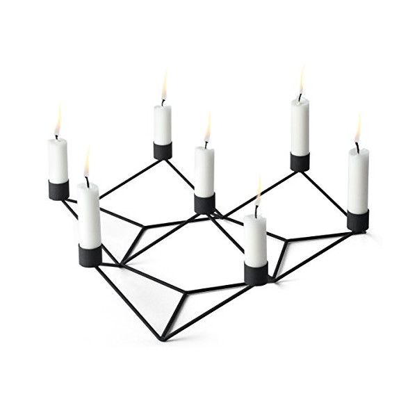 MENU 4765539 POV 7-Candle Holder, Large, Black