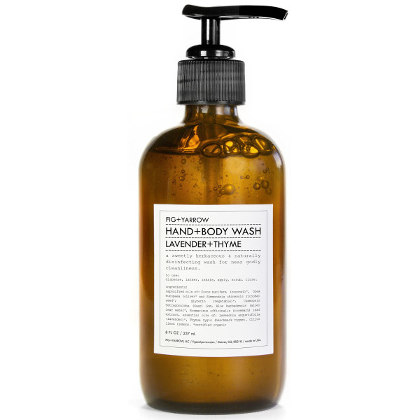 FIG+YARROW Organic Hand+Body Washes, Lavender+Thyme