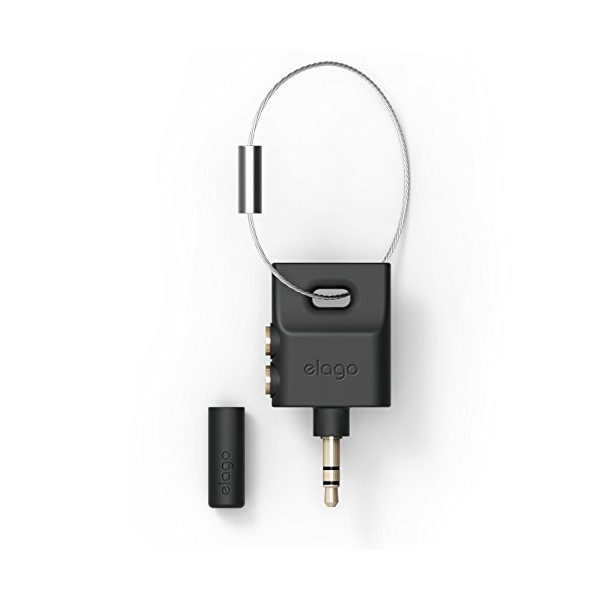 elago Keyring Splitter for iPhone, iPad, iPod, Galaxy and any portable device with 3.5mm (Black)