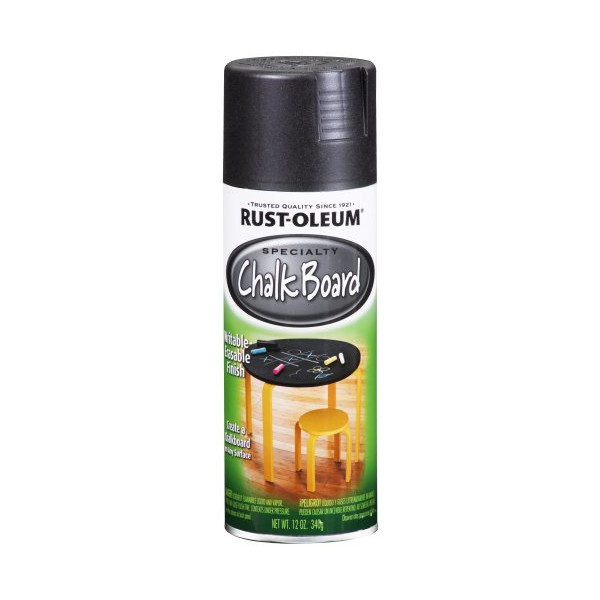 Rust-Oleum 1913830 Chalkboard Spray, Black, 11-Ounce