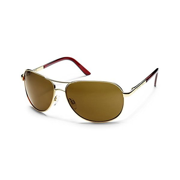 Suncloud Aviator Polarized Sunglass (Gold Frame/Brown Polar Lens)