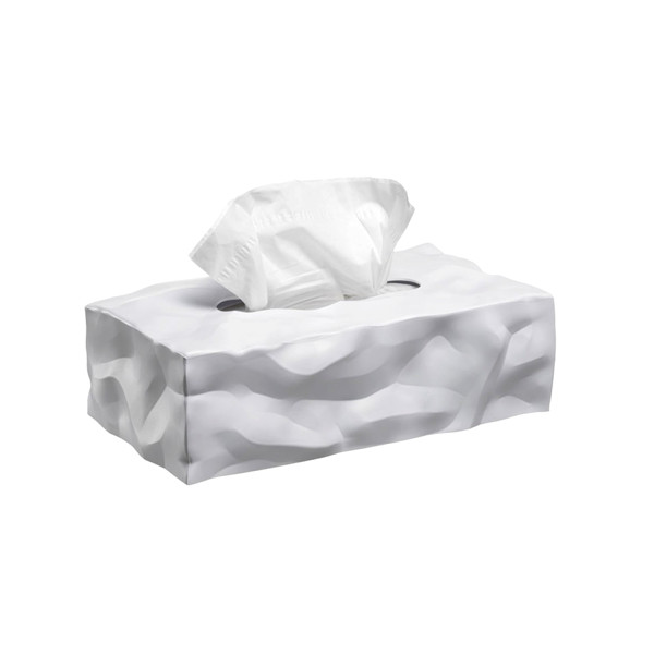 Essey Tissue Box Long, White