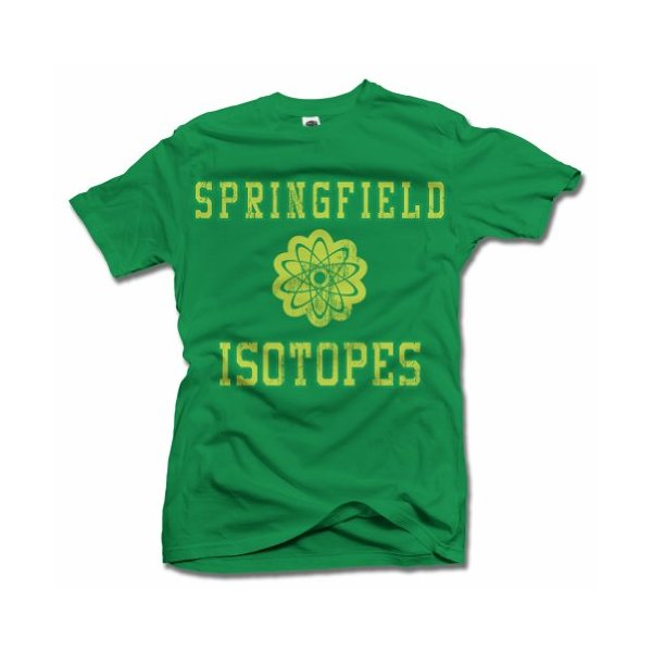 SPRINGFIELD ISOTOPES SIMPSONS FUNNY T-SHIRT L Irish Green Men's Tee (6.1oz)