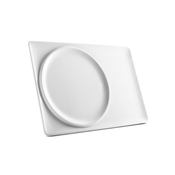 Eva Solo My Brunch Plate All-In-One Porcelain Brunch Plate and Tray, 35-1/2 by 24-1/2cm