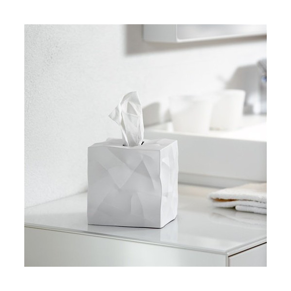 Crinkle Tissue Dispenser - White