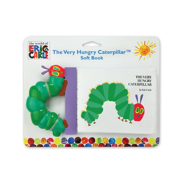 World of Eric Carle, The Very Hungry Caterpillar Soft Book with Plastic Spine by Kids Preferred