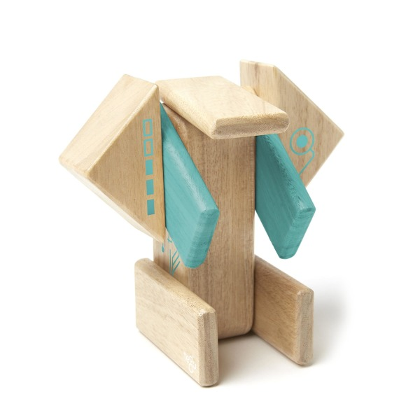 Tegu Robo Magnetic Wooden Block Set