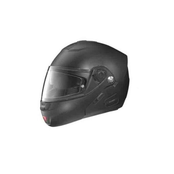 Nolan N-91 N-Com Solid Helmet , Distinct Name: Flat Black, Gender: Mens/Unisex, Helmet Category: Street, Helmet Type: Modular Helmets, Primary Color: Black, Size: Md N915270330102