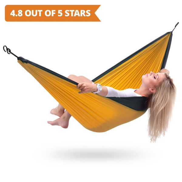 Parachute TM Double Hammock ★ Best All-in-One Portable Lightweight Two Person Hammock with Straps & S-Hooks ★ For Travel, Backpacking and Camping Outdoors!