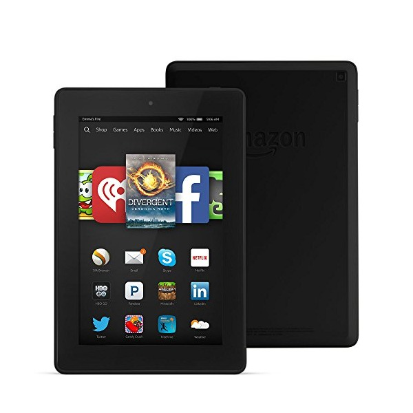 "Fire HD 7, 7"" HD Display, Wi-Fi, 16 GB - Includes Special Offers, Black"
