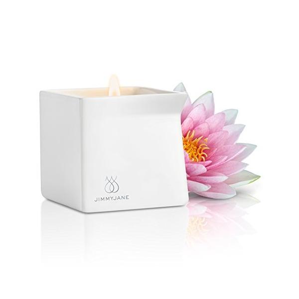 Jimmyjane Afterglow Natural Massage Candle, Pink Lotus