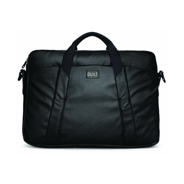BUILT City Collection 16-Inch Laptop Bag, Black