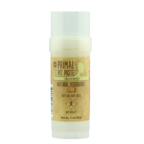 Primal Pit Paste Stick Natural Deodorant Unscented 2 Ounces