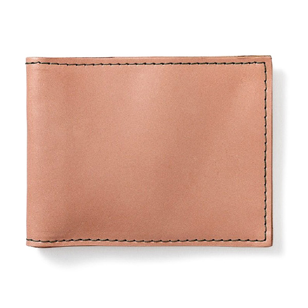 Filson Small Leather Bi-Fold Wallet, Natural