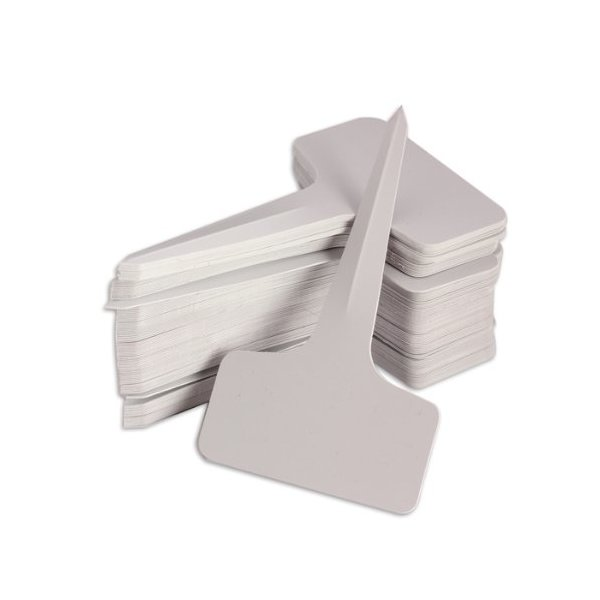 Vktech 100pcs 6 x10cm Plastic Plant T-type Tags Markers Nursery Garden Labels Gray